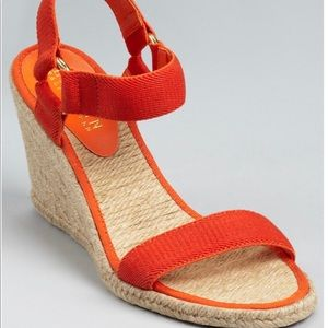 Lauren by Ralph Lauren Indigo Wedge in Orange
